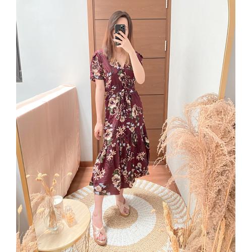 Foto Produk RECCA DRESS | FASHION WANITA | FLORAL DRESS | SUMMER DRESS | BUTTON dari LaJoie.inc