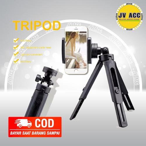 Foto Produk TRIPOD SUPPORT MINI TRIPOD PHONE HOLDER STAND HP STRONG MATERIAL UNIVE dari JV ACC