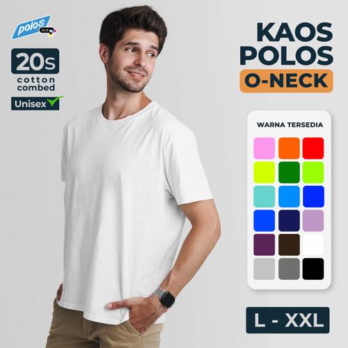 Foto Produk Kaos Polos Super Cotton 20s Unisex Ukuran Besar [L~XXL] - L dari polos.co.id