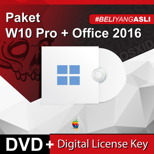 Foto Produk Paket Win 10 Pro & Office2016/2019 Pro Plus - Original - DVD - W10Pro+O2016 dari osx.id