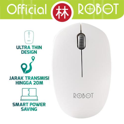Foto Produk Robot M210 2.4G Wireless Optical Mouse - Putih dari Liem Group