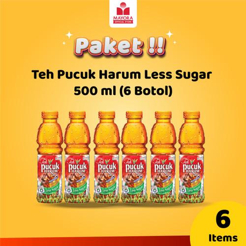 Foto Produk Teh Pucuk Harum Less Sugar 500 ml (6 Botol) dari Mayora Official Store