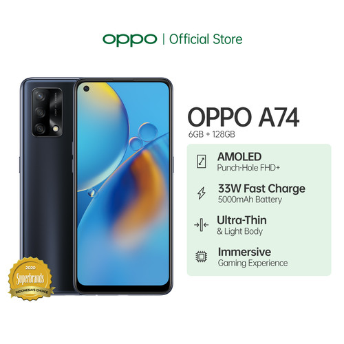 Foto Produk OPPO A74 Smartphone 6GB/128GB (Garansi Resmi) - Hitam dari OPPO OFFICIAL STORE