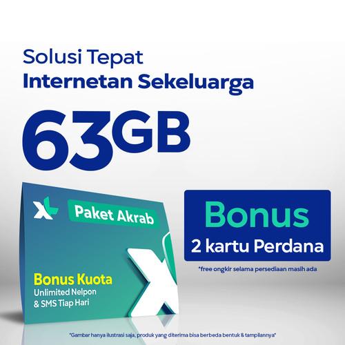 Foto Produk Kartu Perdana XL Akrab hingga 63GB, 2 Anggota, 30 Hari dari XL Axiata