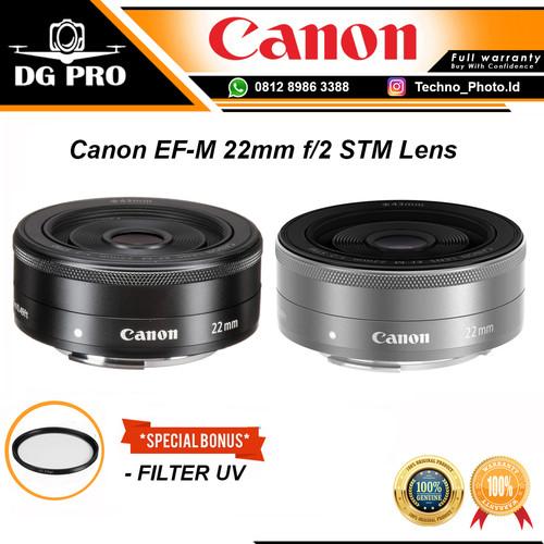 Foto Produk LENSA CANON 22MM F2 STM - LENSA MIRRORLES CANON EF-M 22MM F2 STM - Silver dari DG PRO