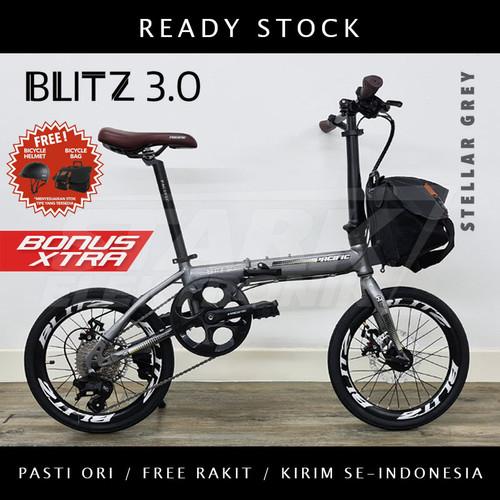 Foto Produk Pacific BLITZ 3.0 Sepeda Lipat Folding Bike - Stellar Grey dari Stark Elektronik