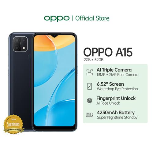 Foto Produk OPPO A15 Smartphone 2GB/32GB (Garansi Resmi) - Hitam dari OPPO OFFICIAL STORE