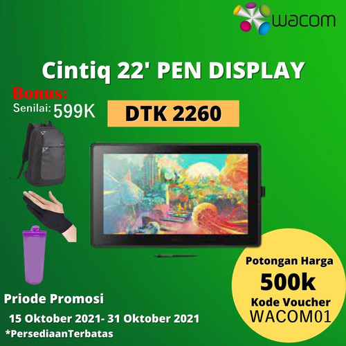 Foto Produk Wacom Cintiq 22 DTK-2260/K0-CX Venus Creative Pen Display DTK 2260 K0 dari DUNIA COMPUTER & SERVICE