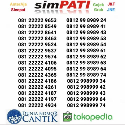 Foto Produk Nomor Cantik Simpati Murah Kartu Perdana Telkomsel dari Nomor Cantik 89