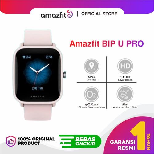 Foto Produk Amazfit Official Bip U PRO Smartwatch Jam Tangan Digital With GPS - Merah Muda dari Amazfit Official
