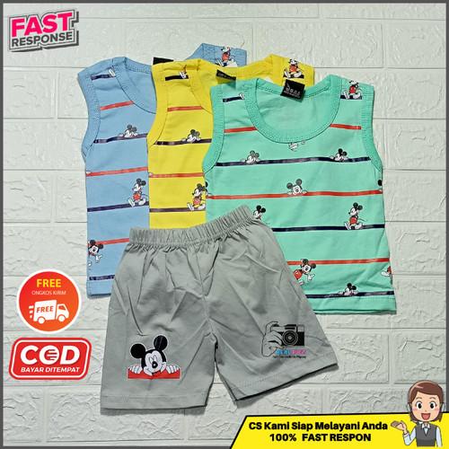 Foto Produk Setelan Stelan Baju Tidur Singlet Anak Laki Laki Cowok Murah - TURTLE-SINGLET, S dari Tanjung Kids
