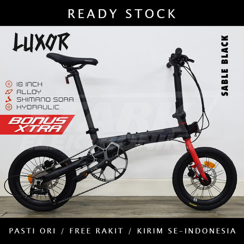 Foto Produk Pacific LUXOR 16 & 20 inch Sepeda Lipat Folding Bike - Sable Black, Ban 20inch dari Stark Elektronik