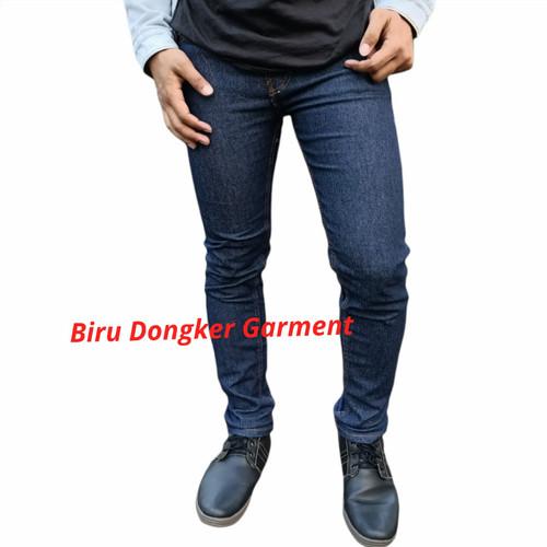 Foto Produk Celana Jeans Panjang Pria Lepis Levis Slim fit Stretch Garment Jumbo - Biru, 27 dari Hybrid Denim