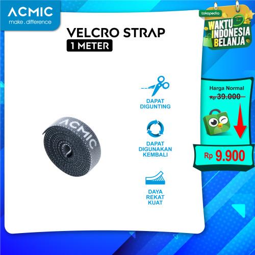 Foto Produk ACMIC VELCRO STRAP CABLE TIE ORGANIZER Pengikat Perekat Kabel Holder - 1 Meter dari ACMIC Official Store