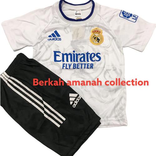 Foto Produk BISA COD/ stelan baju bola anak musim terbaru 2021/2022/ jersey anak - Madrid putih, 4 dari BERKAH AMANAH COLLECTIONS