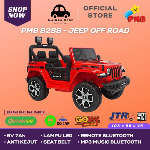 Foto Produk Mainan Mobil Aki Anak Jeep OFF ROAD PMB 8288 M-8288 Remote - Merah dari Mainan Anak Dede