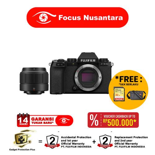Foto Produk FUJIFILM X-S10 Fuji XS10 XS 10 X S10 BODY + XC 35mm f/2 R dari Focus Nusantara