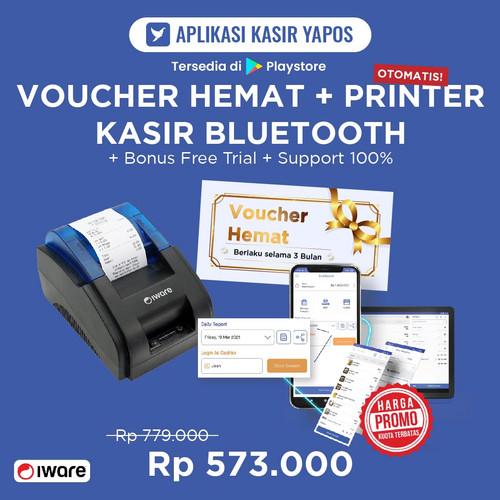 Foto Produk Thermal Printer Kasir Bluetooth dan Voucher Hemat Yapos 3 Bulan dari Yapos Indonesia