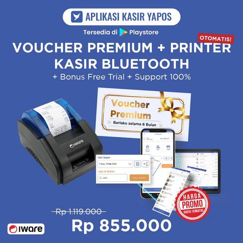 Foto Produk PAKET Thermal Printer Kasir Bluetooth dan Voucher Mewah Yapos 6 Bulan dari Yapos Indonesia