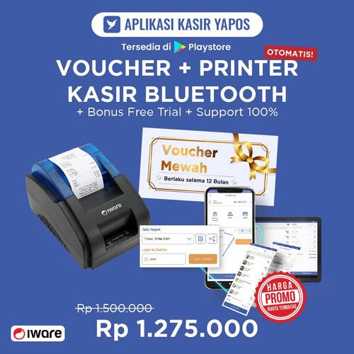 Foto Produk Thermal Printer Kasir Bluetooth dan Voucher Mewah Yapos 12 Bulan dari Yapos Indonesia