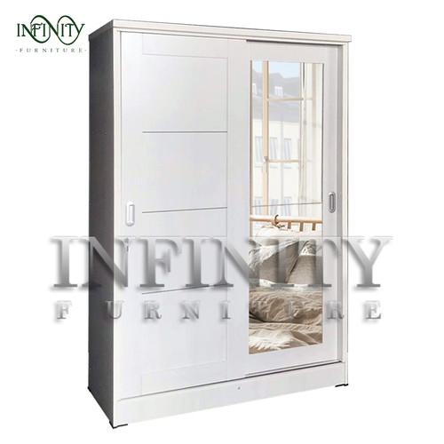 Foto Produk Lemari Pakaian 2 Pintu Sliding LPT 2006 - White dari Infinity Furniture