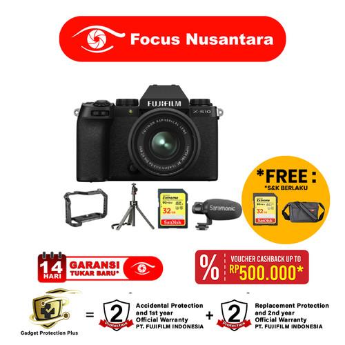 Foto Produk FUJIFILM X-S10 Kit XC 15-45mm / Fujifilm X-S10 +Vlogging Kit (Limited) dari Focus Nusantara