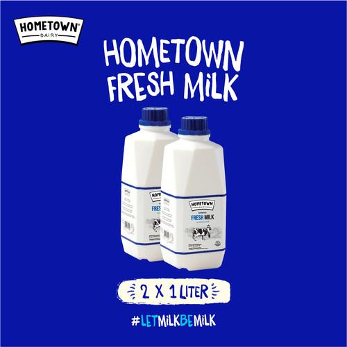 Foto Produk Hometown Fresh Milk Susu Segar 1L (ISI 2 BOTOL) - Twin Pack dari GGF Mart