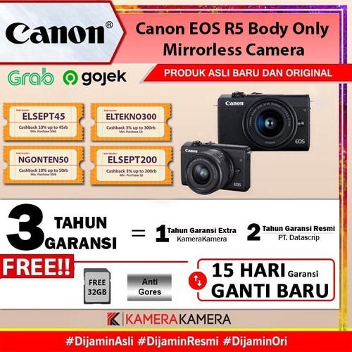 Foto Produk Canon EOS M200 Kit 15-45mm IS STM Free Sandisk 16 GB - RESMI - Black - Hitam dari kamerakamera