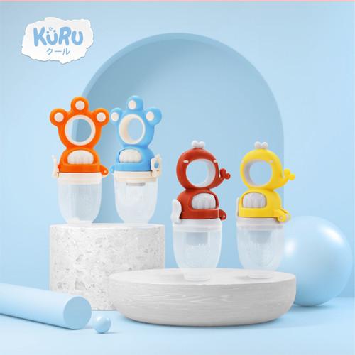 Foto Produk KURU Dot Empeng Bayi | Empeng Buah Sayur Putar | Baby Fruit Teether - Putih dari bobo baby shop