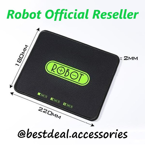 Foto Produk MousePad Robot MP01 Black - Robot Mouse Pad Hitam - Hitam dari bestdeal official