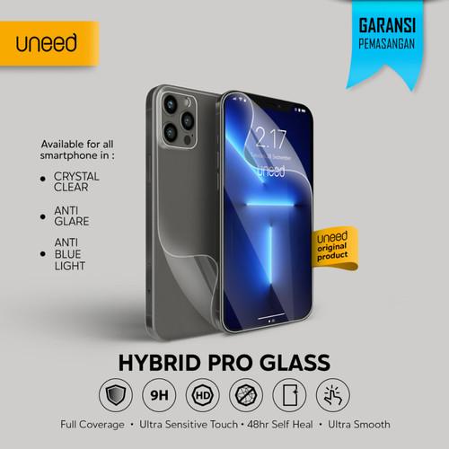 Foto Produk Uneed Hybrid Pro Anti Break Screen Protector Handphone Full Cover - Clear, Back 1pcs dari Uneed Indonesia