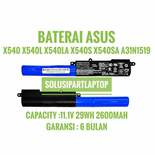 Foto Produk BATERAI ASUS X540 X540L X540LA X540S X540SA A31N1519 BLACK dari SolusiPartLaptop