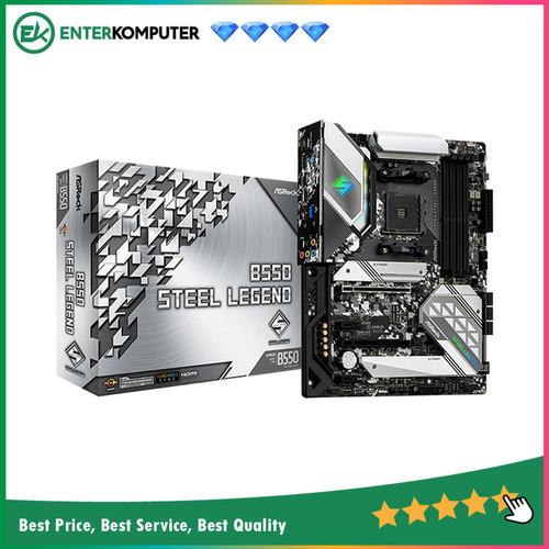 Foto Produk ASRock B550 Steel Legend (AM4, AMD Promontory B550, DDR4, USB3.2) dari Enter Komputer Official
