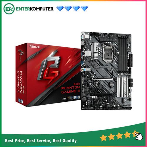 Foto Produk ASRock B460 Phantom Gaming 4 (LGA1200, B460, DDR4, USB3.2, SATA3) dari Enter Komputer Official