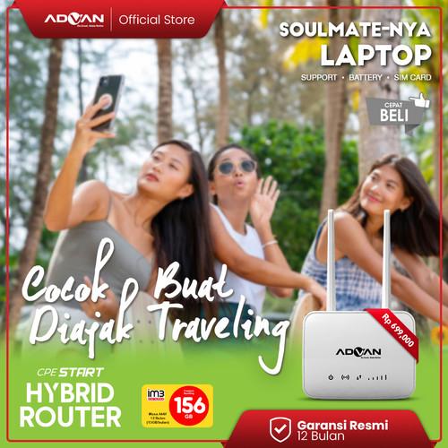 Foto Produk Advan Router CPE Start 4G LTE + WLAN Garansi Resmi - Indosat dari Advan Official Store