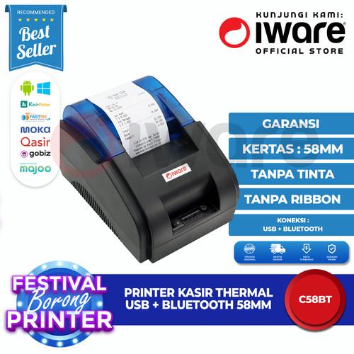 Foto Produk Iware Printer Thermal Kasir Iware C58-BT / C58BT 58mm Bluetooth dari Iware Official Store