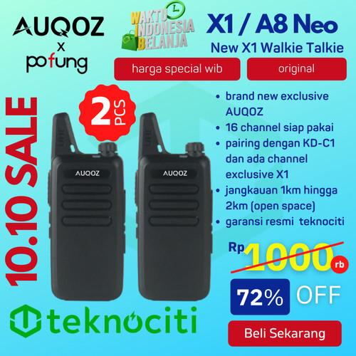 Foto Produk AUQOZ X1 Ultra Mini Walkie Talkie - HT A8 Neo Alt 888s KD-C1 by Pofung dari TEKNOCITI