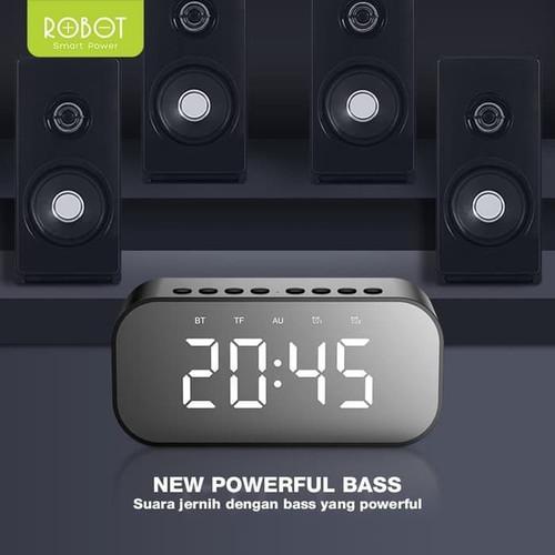 Foto Produk with Clock JAM Alarm Robot Speaker Display ALARM LED Bluetooth RB-550 dari PojokITcom Pusat IT Comp