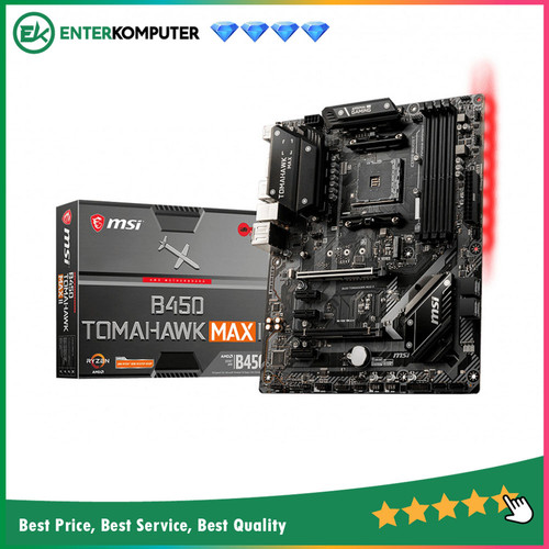 Foto Produk Motherboard MSI B450 Tomahawk MAX AM4 B450 DDR4 USB3.2 SATA3 dari Enter Komputer Official