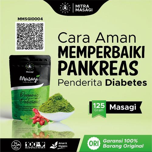 Foto Produk Masagi Obat Herbal Diabetes 125gr Regenerasi Pankreas Penambah Imun dari Toko Obat Alam Sehat