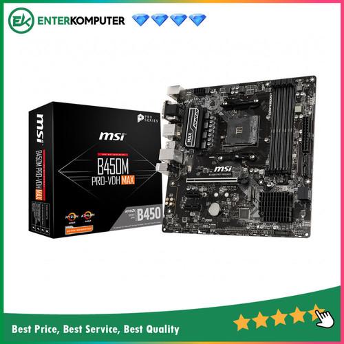 Foto Produk Motherboard MSI B450M Pro VDH MAX (AM4, AMD B450, DDR4, USB3.2, SATA3) dari Enter Komputer Official