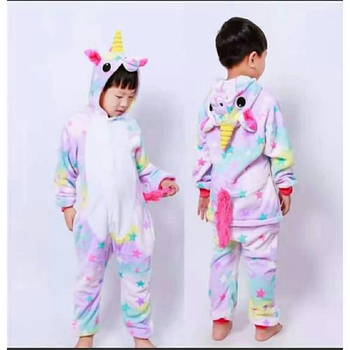 Foto Produk KOSTUM ONESIE UNICORN UNIKORN Cosplay Anak Baju Tidur Piyama Karakter - 110 dari Reiko Store
