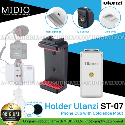 Foto Produk Ulanzi ST-07 Holder U Phone Clip dengan Cold Shoe dari Midio