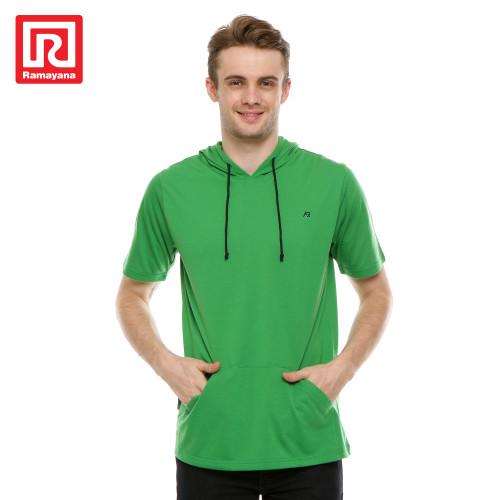 Foto Produk Ramayana - AR89 - Tshirt Hoodie Pendek AR127 - Hijau, M dari Ramayana Dept Store