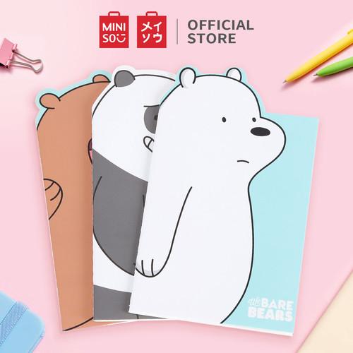 Foto Produk MINISO Notebook We Bare Bears24lembar Buku Catatan Berbahan Linen - 3PCS dari Miniso Indonesia
