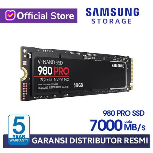 Foto Produk Samsung SSD 980 PRO 250GB 500GB M.2 PCIe NVMe Gen4 M2 Internal SSD - 250GB dari Samsung Storage Official