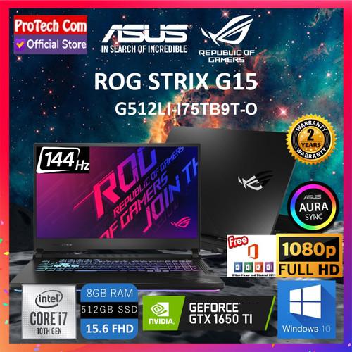 Foto Produk ASUS ROG STRIX G512LI-I75TB6T i7-10750H 8GB 512GB GTX1650Ti 4GB 144Hz dari Protech Computer