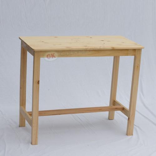 Foto Produk Meja makan meja tulis kayu jati belanda - 100x50x75, Natural dari Gudang Kasur dot com ( PT GUDANG KASUR JAYA )