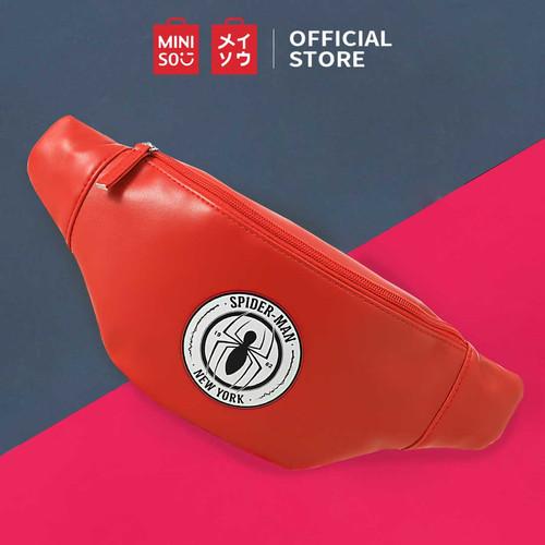 Foto Produk MINISO Marvel Tas Pinggang Crossbody Waist bag Fashion Sekolah - Merah dari Miniso Indonesia