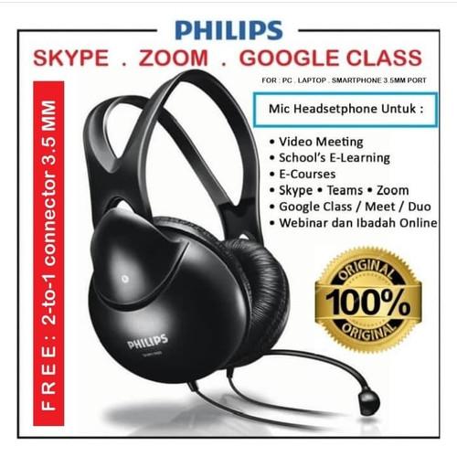 Foto Produk MIC headset Headphoneset OL School Video Meeting - Gaming Philips SHM dari EtalaseBelanja